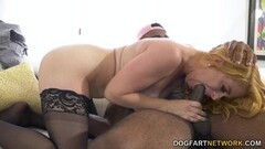 Naughty MILF From The Netherlands Fuck with Busty Blonde Booty Thumb