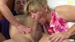 Kinky Big Beautiful BBW Wife Masturbates Well with Her Dildo Thumb