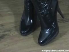 Fishnet socks and black boots Thumb
