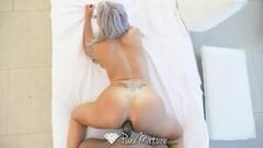 PUREMATURE Black Dick Pounds Sexy Mature Nina Elle Ass Thumb