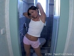 Young Lisa Masturbates On The Toilet Thumb
