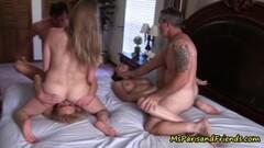 Redhead dominatrix torments and strapon bangs bound sub Thumb
