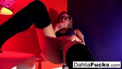 Horny Dahlia plays with her favorite sex toy Thumb