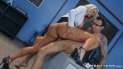Sexy Cherie Deville and Kota Skye play with pussy on teachers desk Thumb