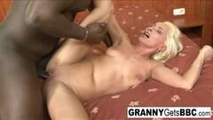 Massive Black cock makes granny's asshole gape open Thumb