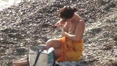 Cute teen nudists on the beach Thumb