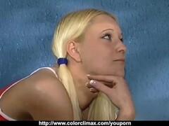 Lesbian Teen Paula Shy and Kari Licking Puffy Slots Thumb