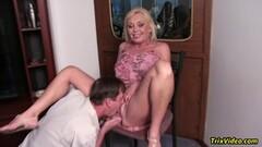 Kinky Anal Fuck This Huge Boobs Gilf POV Pussy Creampie Thumb