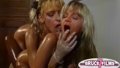Threesome lesbian tryst on a big bed Thumb