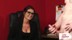 Hot office voyeur enjoys wanking session Thumb