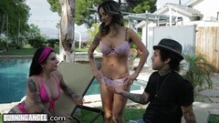 Cute Joanna Angel Ass Stretched in Anal 3Way with MILF Thumb