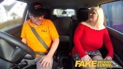 Fake Driving School Busty mature MILF sucks and loves to fuck Thumb