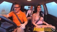 Fake Driving School double internal shot for milf Thumb