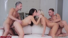 Smoking hot foursome with Little Caprice Thumb