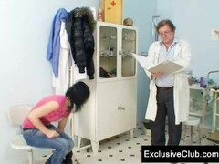 Brunette Pavlina Vagina Exam By Old Doctor Thumb