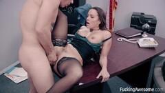 Secretary Abigail Mac fucks her sexy boss Thumb
