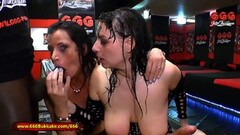 Two German Moms get their Big tits piss covered Thumb