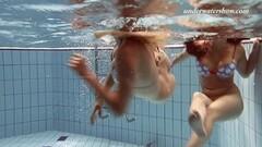 Iva and Paulinka big tits bikinis in the pool Thumb
