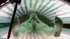 Voyeur Has Hidden Cam in Public Solarium Thumb