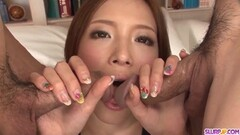 Asian Ena Ouka gets older man to deep fuck her tiny pussy Thumb