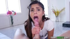 Ex handjob with cum in mouth Thumb