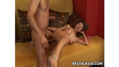 Petite Latin chick gets all her holes filled up Thumb