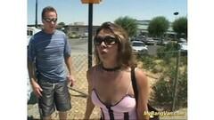 Jayda takes a dildo inside her pierced pussy Thumb