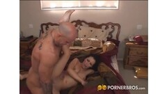 Skinny brunette gets fucked in her vinyl boots Thumb