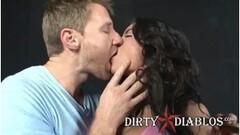 She polishes his knob so good Thumb