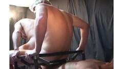 Three cocks spraying cum on her mouth Thumb