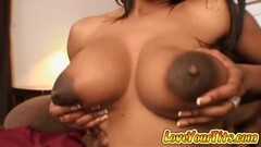 Ebony slut with huge nipples get monster cock Thumb
