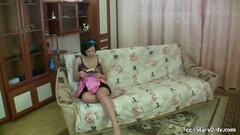 Sticky Cum on Hot Naughty Teen's Tits Thumb