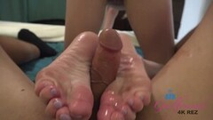Naughty Chloe Works You Good with Her Feet Thumb