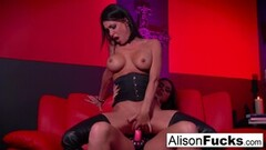 Kinky Red room and red strap-on action with Alison Tyler! Thumb
