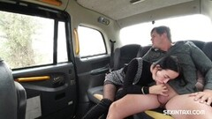 Naughty Girl Fucks in A Taxi without Restraint Thumb