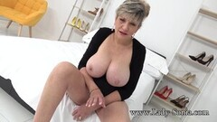 Stocking Milf Strip Teases Thumb