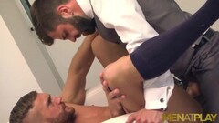 Horny Latinos Businessmen Ass Fuck And Jizz Thumb