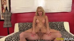 Slim housewife gets her ass fucked hard in doggystyle with great facial on the end Thumb
