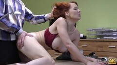 Intterracional Blonde Girl takes black and white Dick 3 Thumb