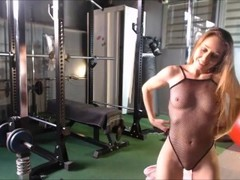 Verona v/d Leur live flexible gym session and orgasm Thumb