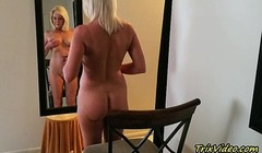 The Erotic Blonde in the Mirror with ms Paris Rose Thumb