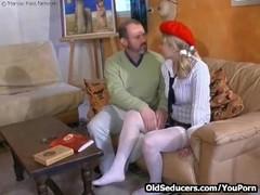 Teen double-fucked by older men Thumb