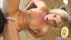 MILF Trip - Sexy blonde MILF slut takes fat cock and facial Thumb