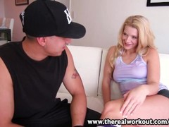 TheRealWorkout Sexy blonde Addison Avery fucked after football training Thumb