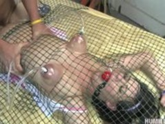 Brooke Lee Adams gets pinned down by chicken wire and fucked Thumb