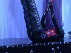 Hot latex babe all tied up - Absurdum Productions Thumb