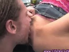 Amateur real oral outdoor couple Thumb