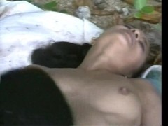 Young black couple found a nice spot in the forest- CDI Thumb