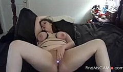 Chubby Binds her Breasts and Cums Hard - negrofloripa Thumb