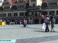 German Babe July Naked On Public Streets Thumb